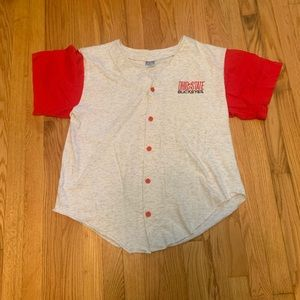 VTG Ohio State Buckeyes Baseball Button Up Jersey